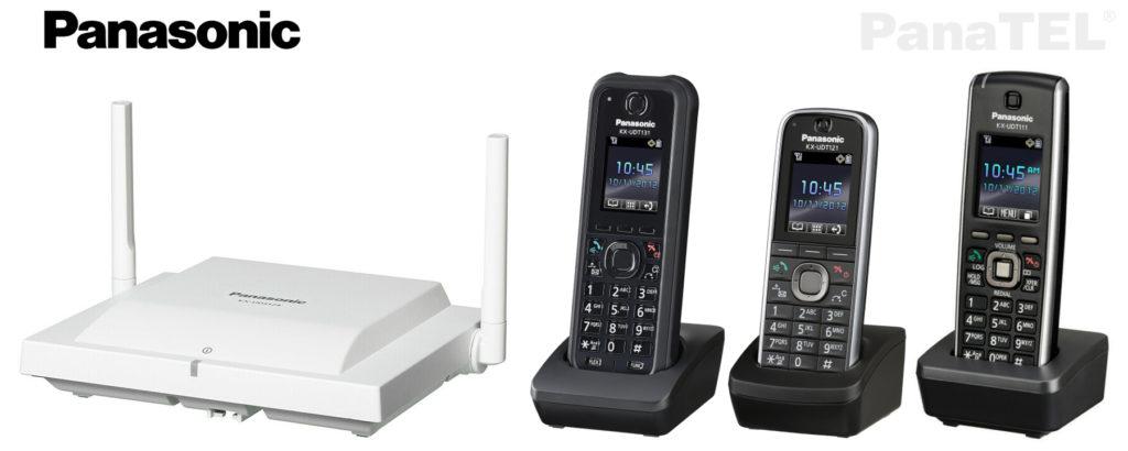 Bezdrátové řešení pro velké objekty Panasonic KX-UDS124CE.