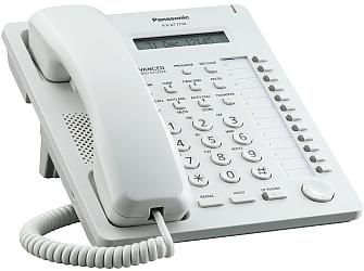 Panasonic KX-AT7730NE je kvalitní systémový telefon pro hybridné systémy telefonních ústředen Panasonic.