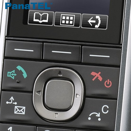 Detail komfortního telefonu Panasonic KX-UDT121CE pro bezdrátový SIP systém KX-UDS124CE.